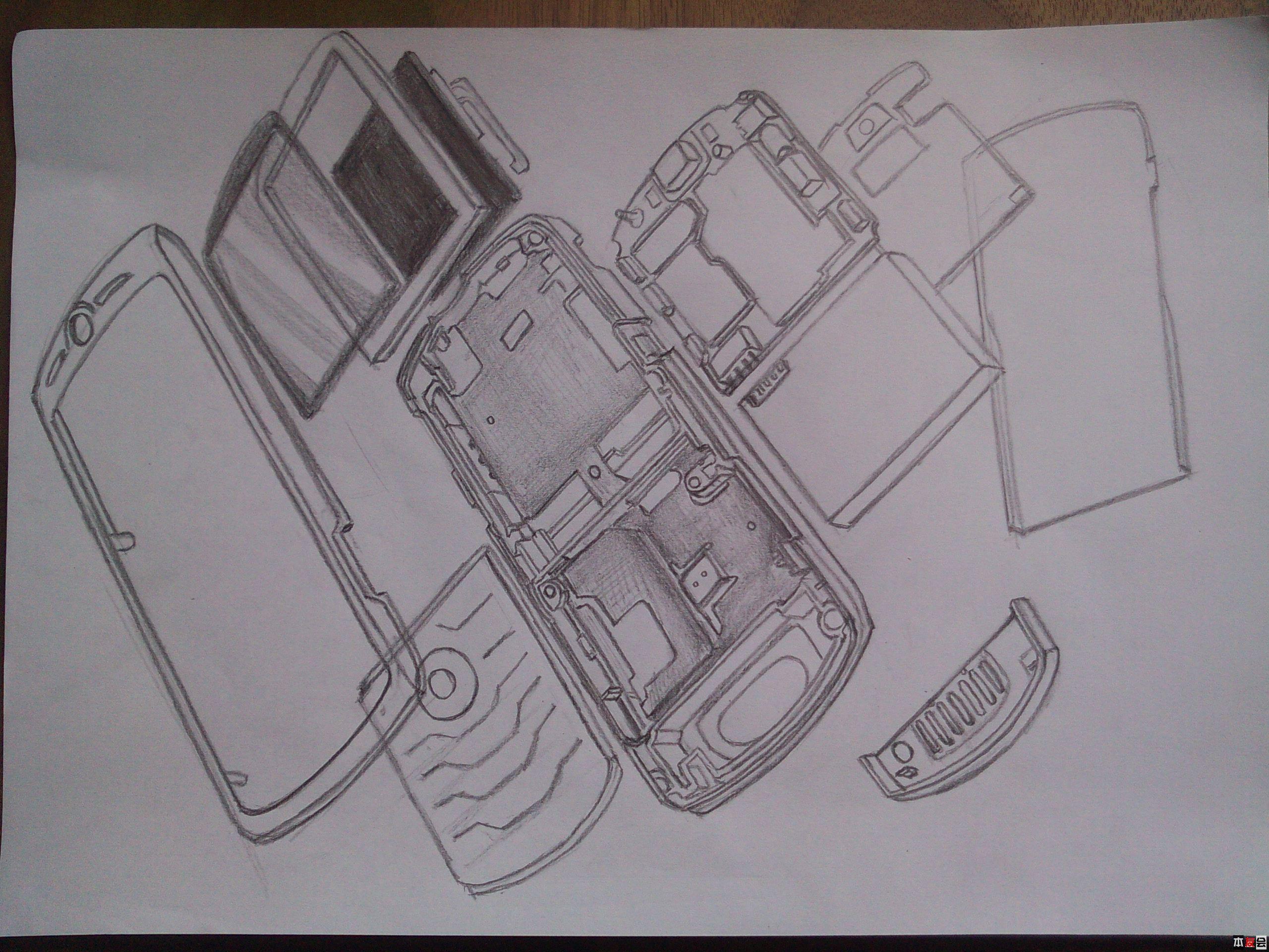 产品手绘图和爆炸图