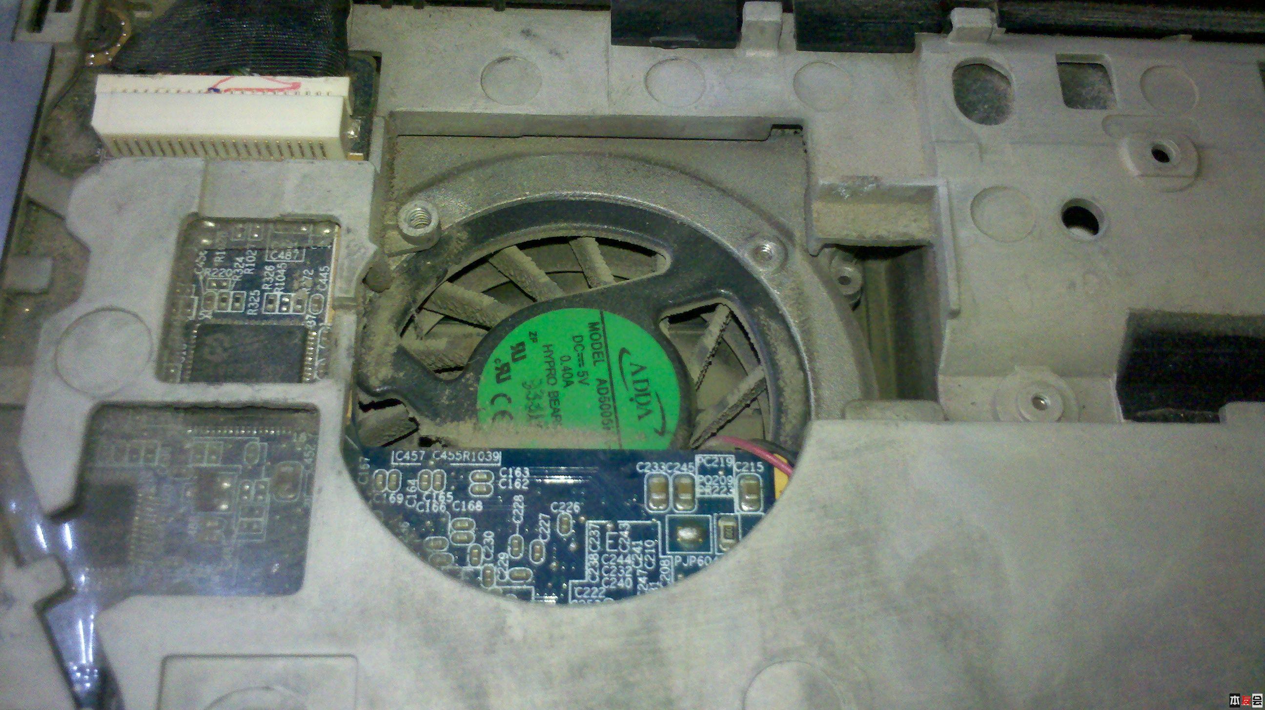 4年老本惠普cq40,拆机清灰