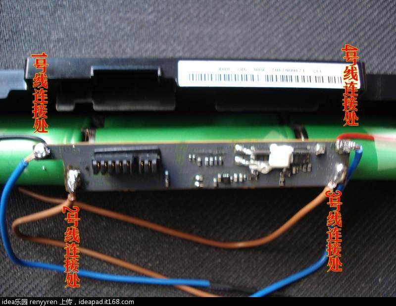 联想y450问题电池--sony l08o6d13拆解换芯记