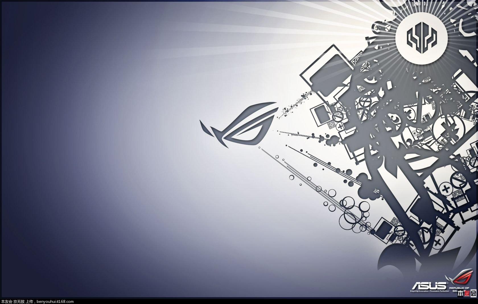 【無水印打包下載】華碩玩家國度logo壁紙,1920*1080【40p多圖殺貓】