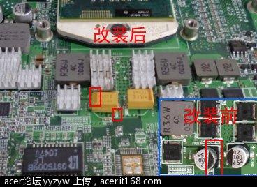 求证4820tg改装换电容的正负极的安装位置?