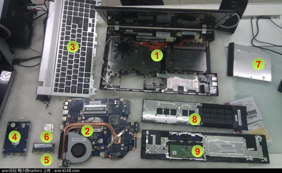 宏碁v3-571g新机配置附详细拆机介绍图片多多