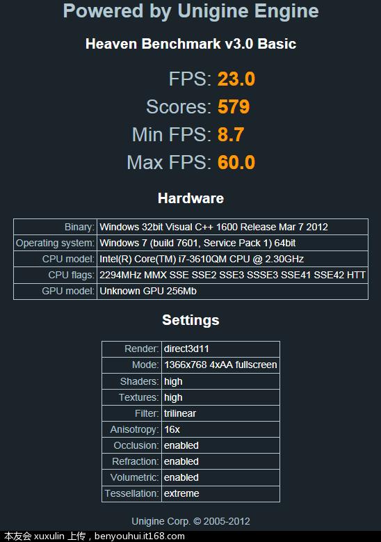 天堂3.0测试图4 高性能 1366X768.PNG