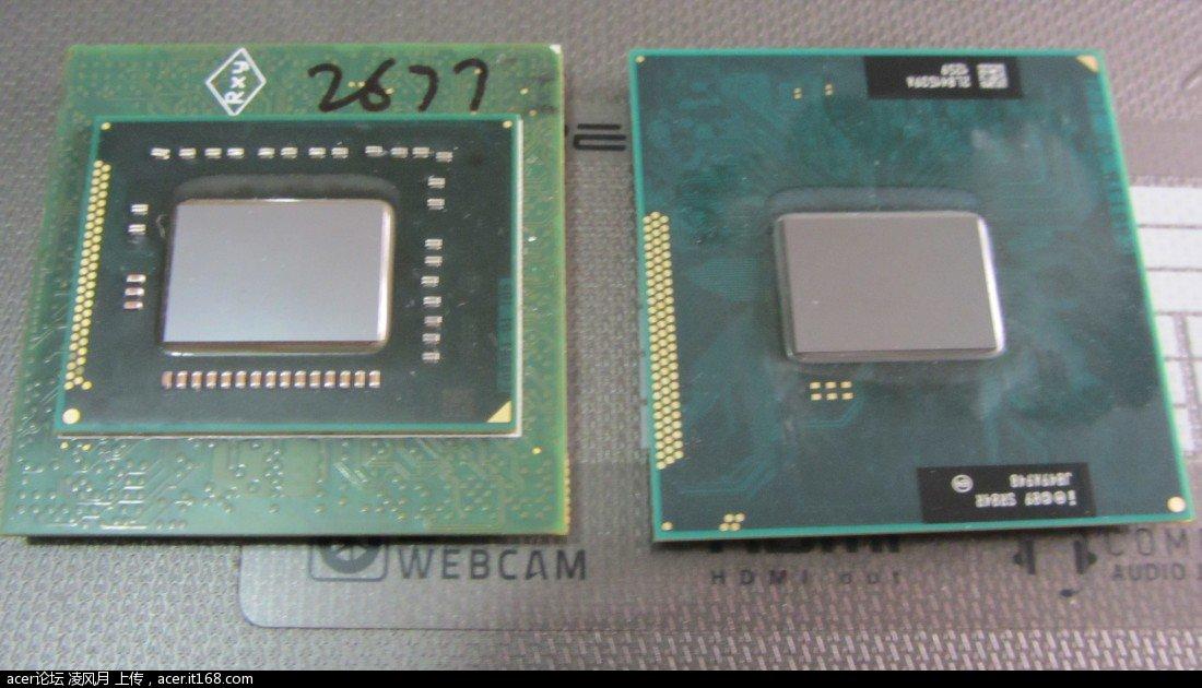 笔记本电脑 宏基3750g 换cpu i3换i7 图文教程 凌风原创 笔记本内置