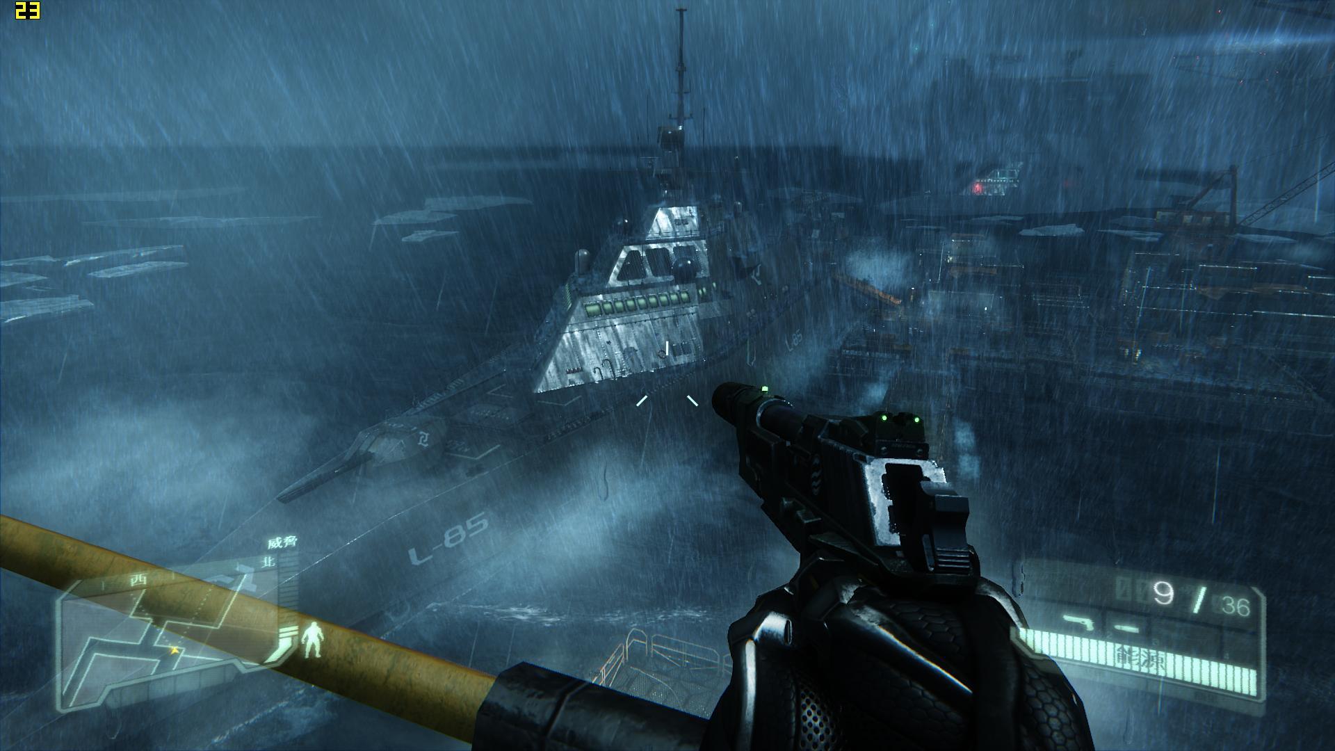 孤岛危机3进入战役第一关开场动画结束后,就没动静了.