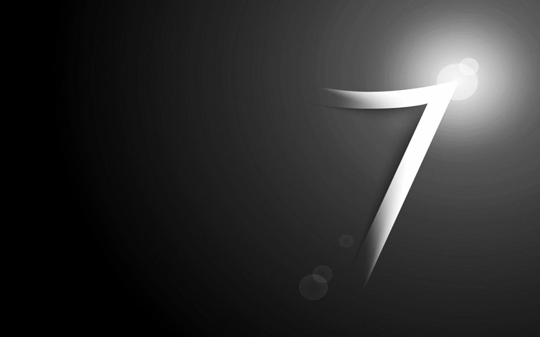 win7 桌面壁纸 黑色背景