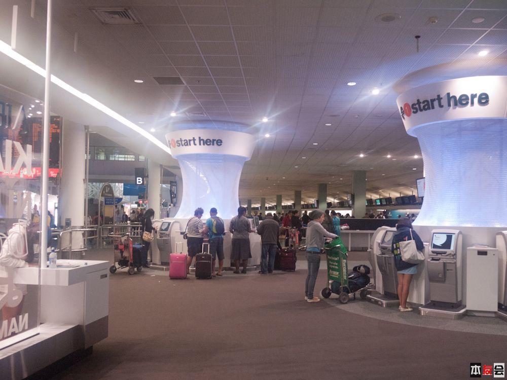 机场check in