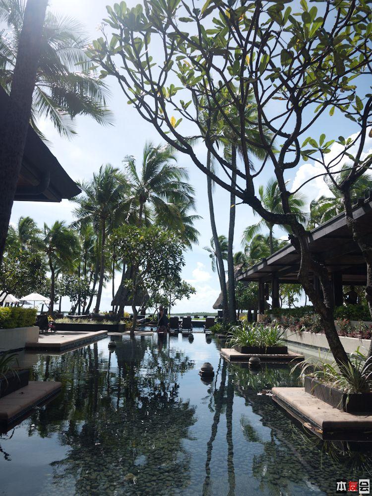 饭店游泳池附近