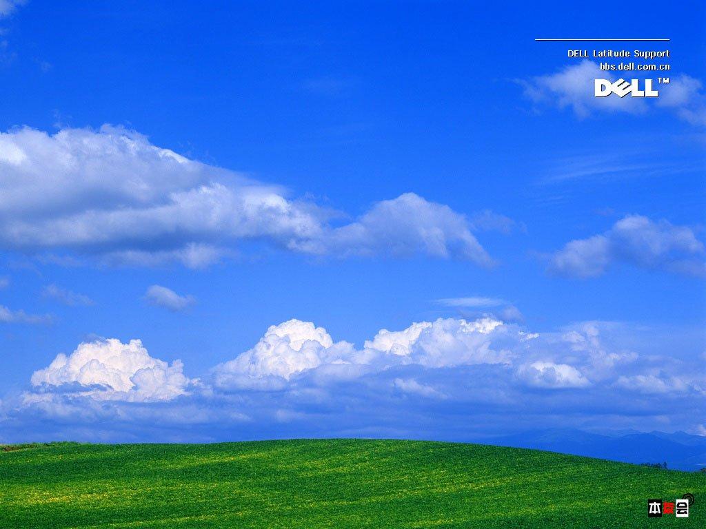 好看xp经典蓝天白云草地桌面图片高清图片